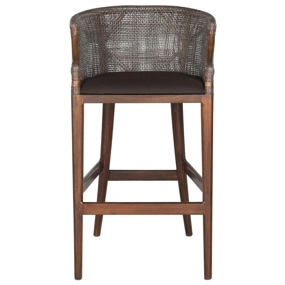 Safavieh Brando 28 In Brown Cushioned Bar Stool Sea4014a