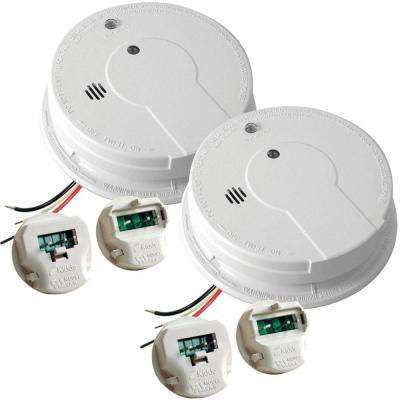 Hardwired 120-Volt Photoelectric Smoke Alarm Battery Back-Up with Adapters (Twin Pack)