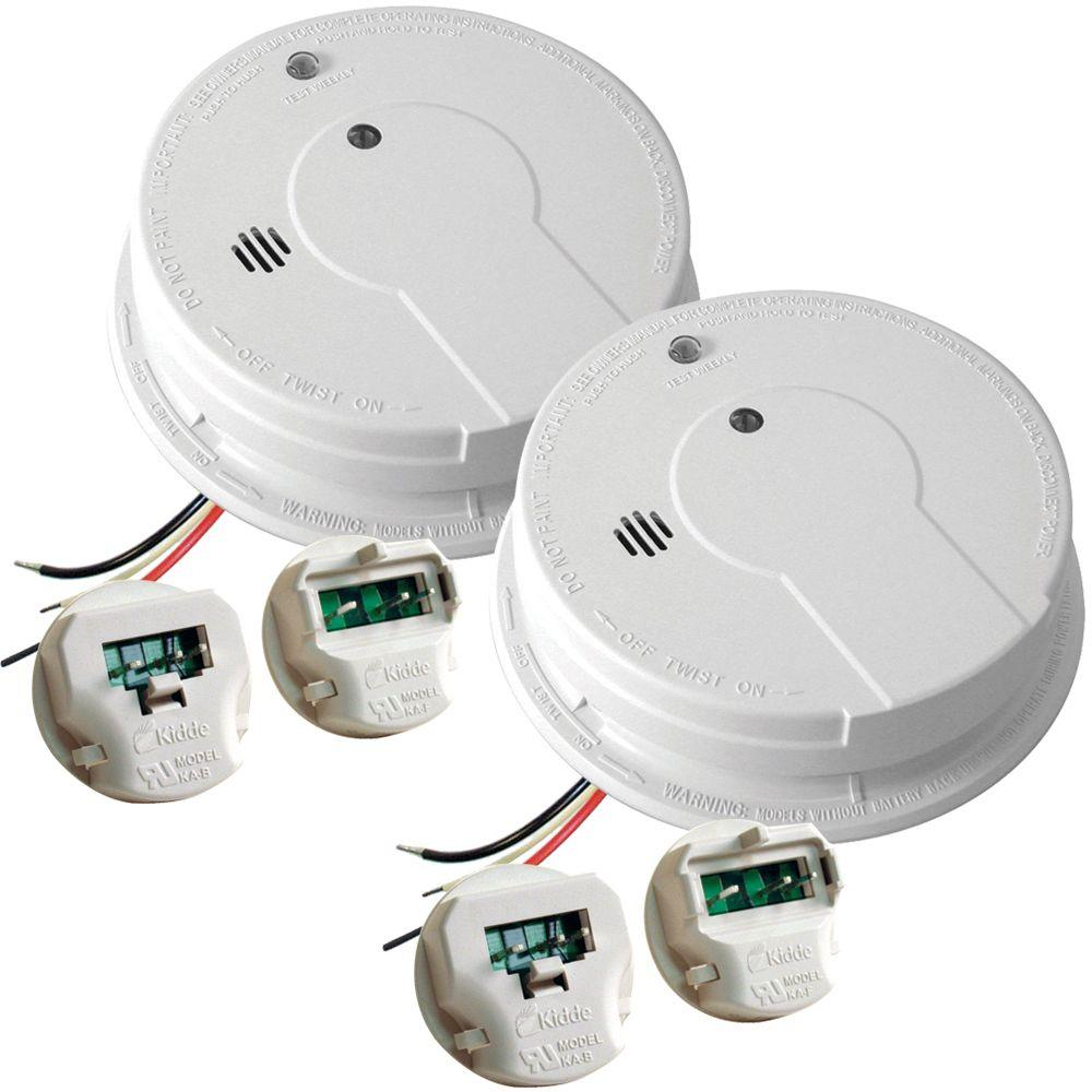 Kidde Hardwire Smoke Detector with 9V Battery Backup, Adapters, and  Photoelectric Sensor (2