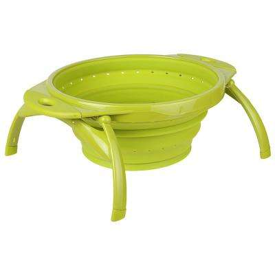 Silicone Collapsible POP Colander in Green