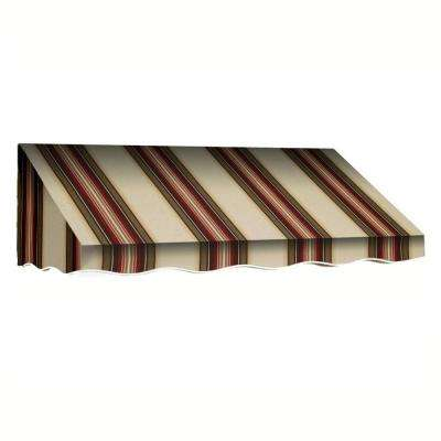 45 ft. San Francisco Window/Entry Awning (24 in. H x 36 in. D) in Brown / White Stripe