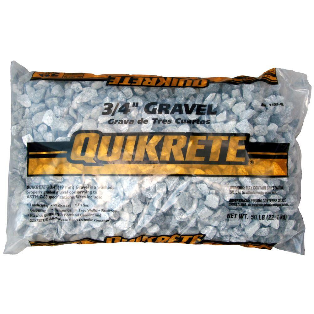 Quikrete 50 Lb 3 4 In Gravel 115245 The Home Depot