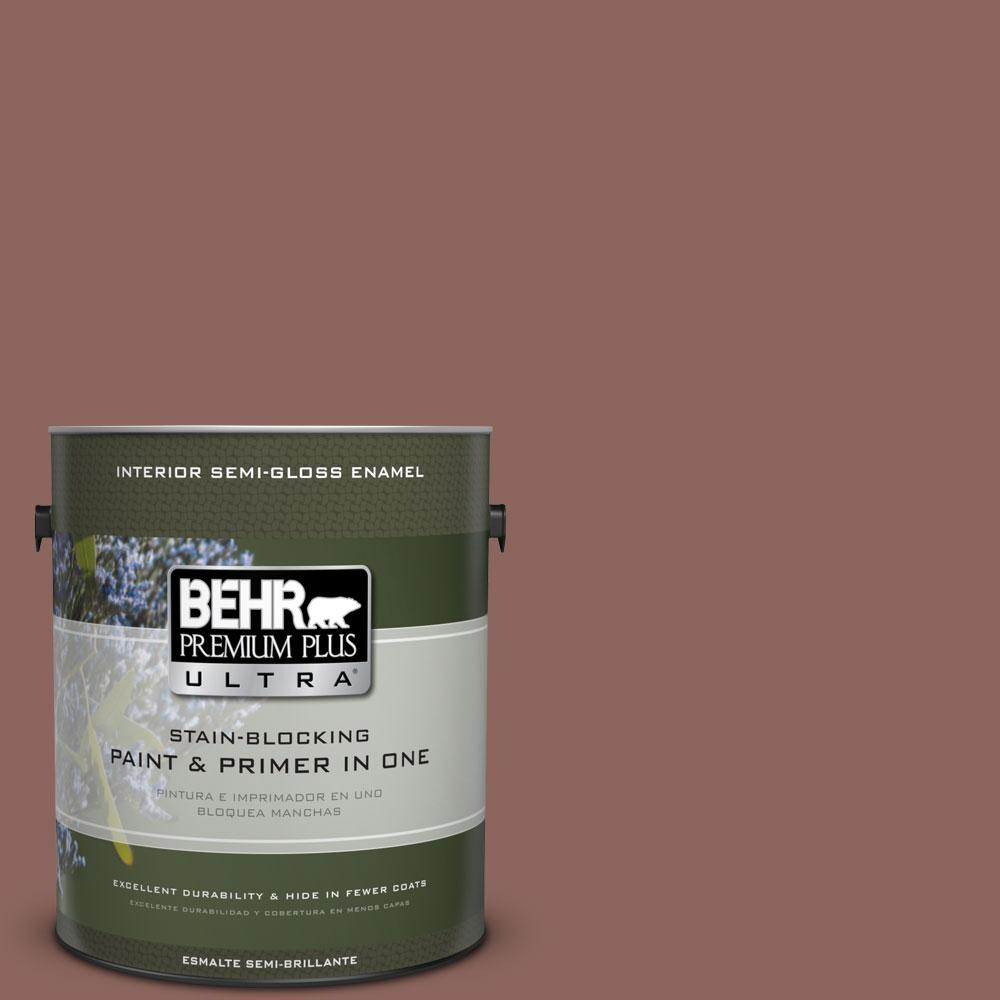 1-gal. #BXC-52 Natural Copper Semi-Gloss Enamel Interior Paint