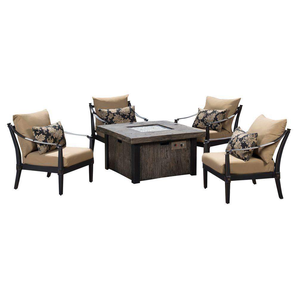 Rst Brands Astoria 5 Piece Fire Pit Chat Set With Delano