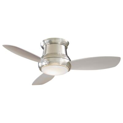 Minka Aire Concept I Wet 58 In Integrated Led Indoor Outdoor Brushed Nickel Wet Ceiling Fan With Light With Remote Control F477l Bnw The Home Depot