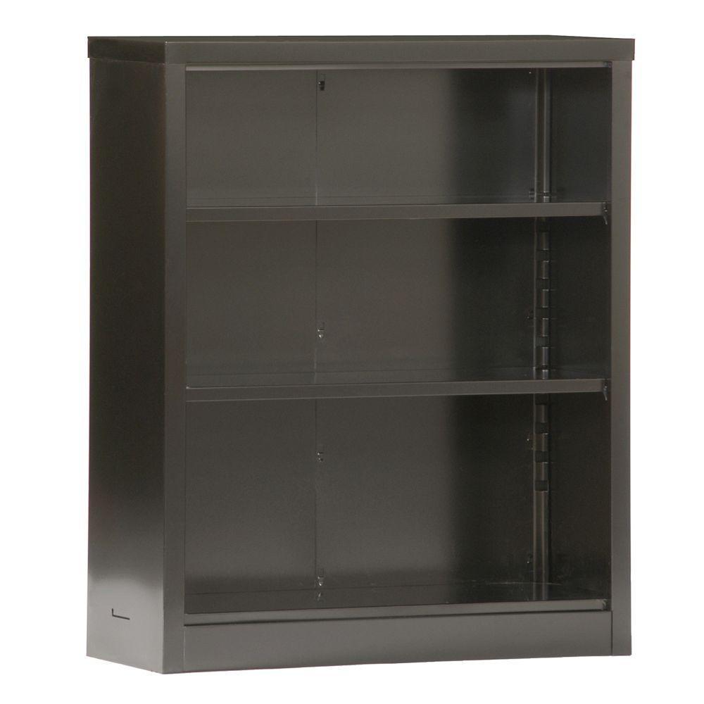 Sandusky Black Steel Bookcase