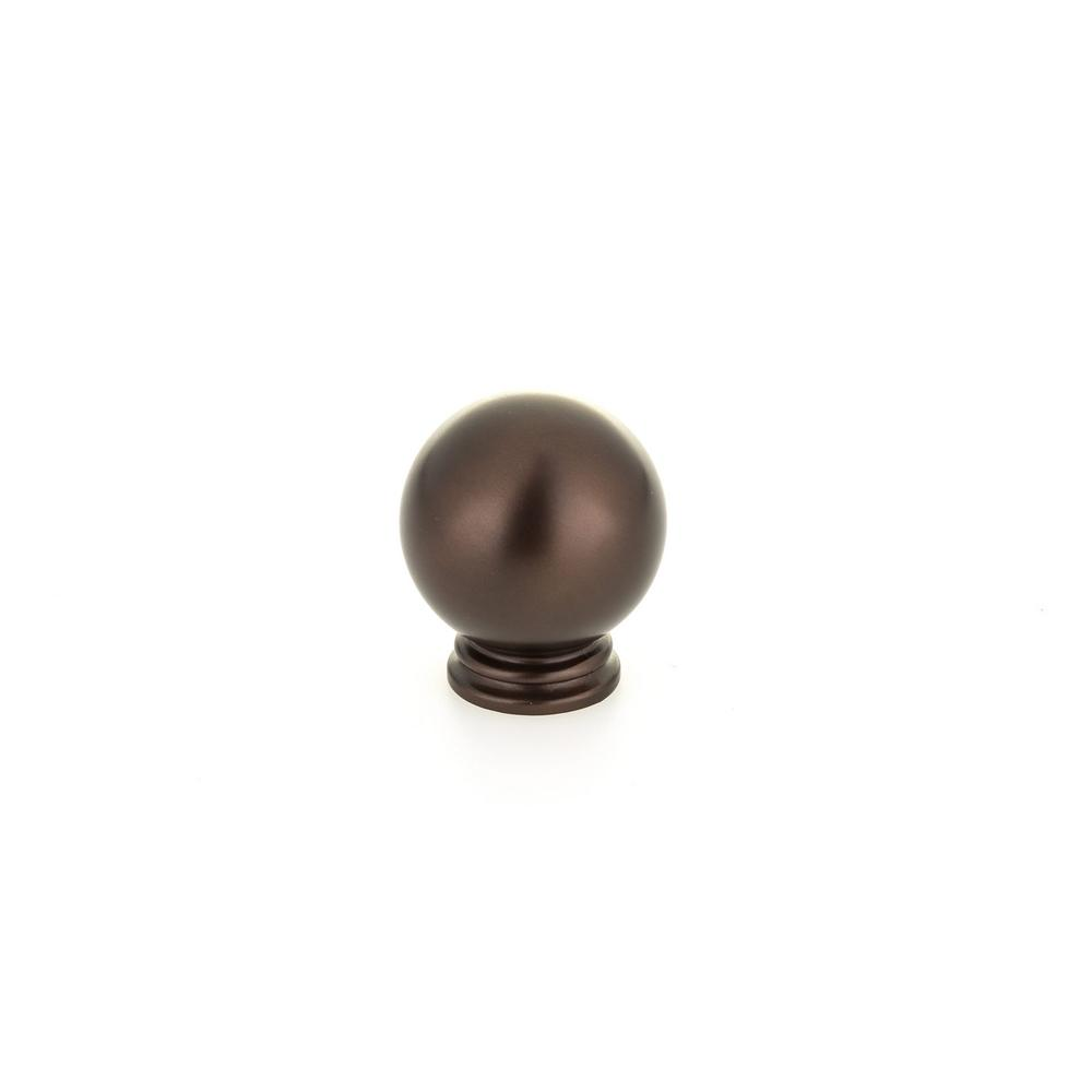 1-3/16 in. (30 mm) Traditional Honey Bronze Round Cabinet Knob