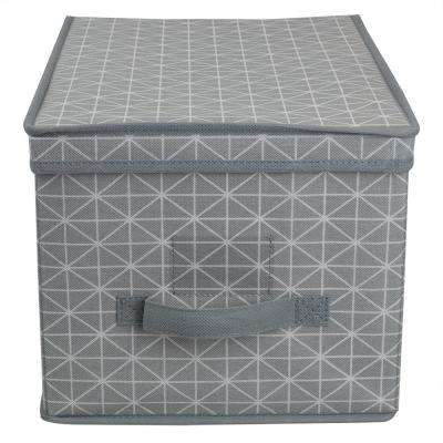Diamond Collection 16 in. x 10 in. Grey Non-Woven Bin