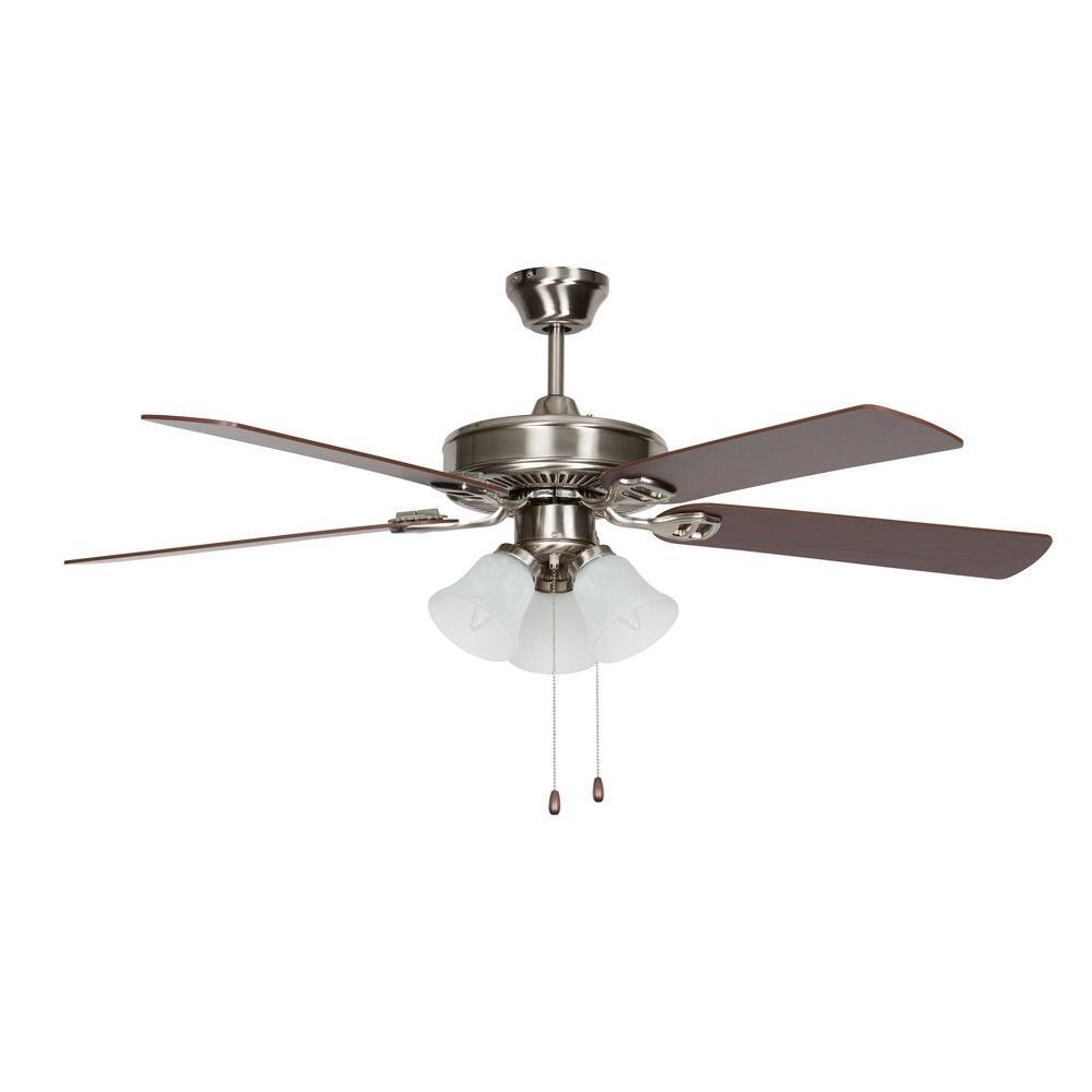 Easy Hang Fan Series 52 in. Indoor Stainless Steel Ceiling Fan