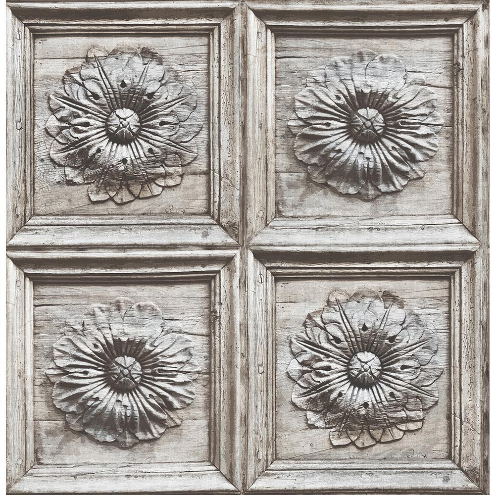A-Street Ravenswood Grey Wood Panel Wallpaper 2540-24035