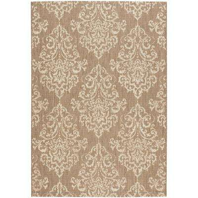 Monte Carlo Taupe/Champagne 4 ft. x 5 ft. Area Rug
