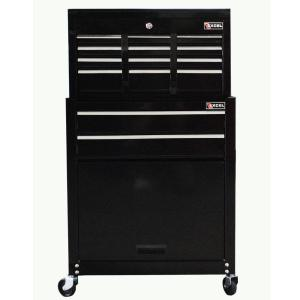 Stanley 24 in. W 8-Drawer Tool Chest and Cabinet Combo, Dark Gray ...