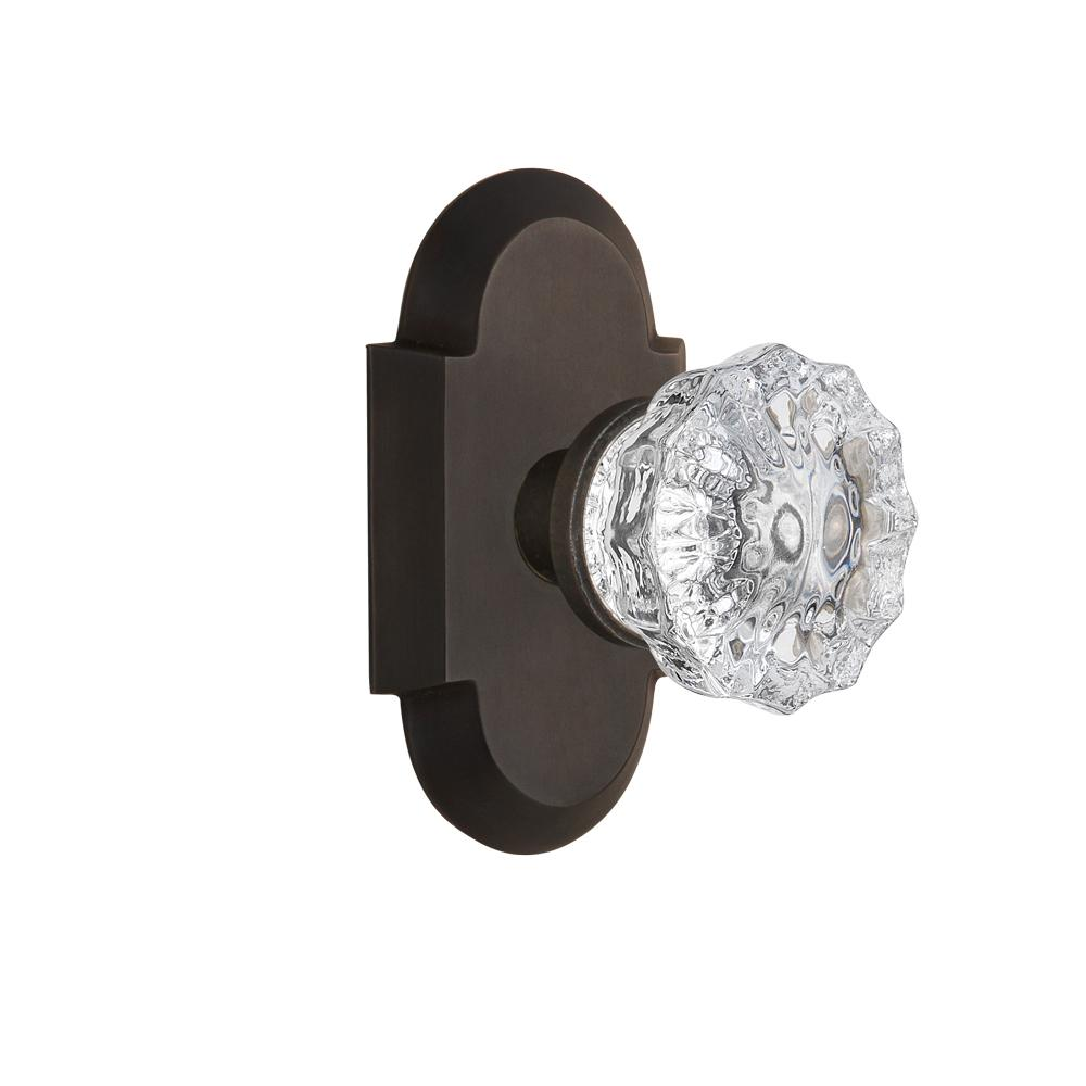 Oil-Rubbed Bronze 712995 Nostalgic Warehouse Cottage Plate with Crystal Glass Door Knob Single Dummy