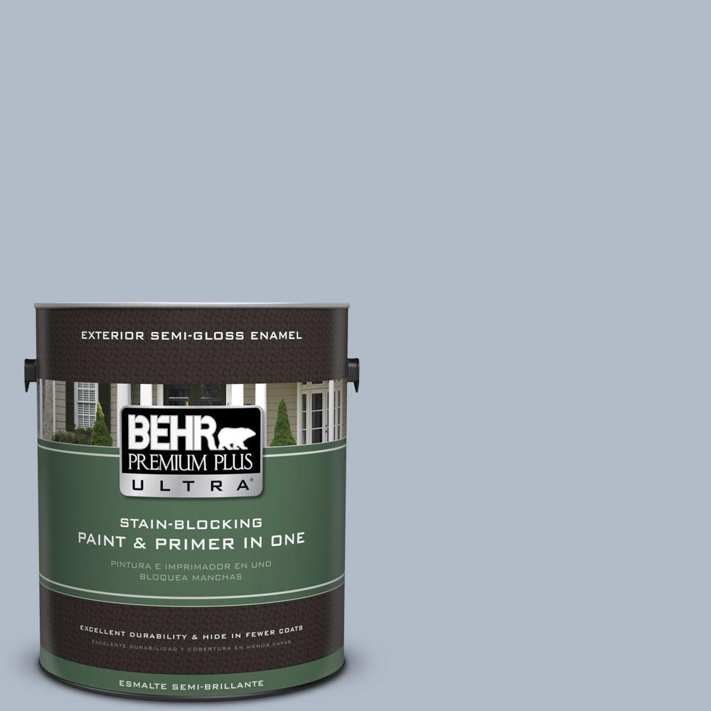 BEHR Premium Plus Ultra 1-gal. #PPU14-12 Hazy Skies Semi-Gloss Enamel Exterior Paint