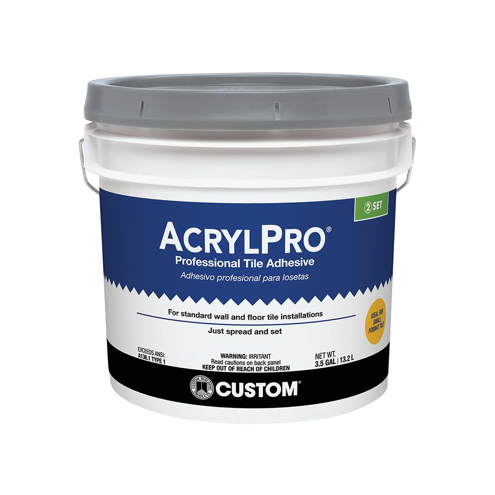 Custom building products acrylpro 3 12 gal ceramic tile adhesive custom building products acrylpro 3 12 gal ceramic tile adhesive dailygadgetfo Choice Image