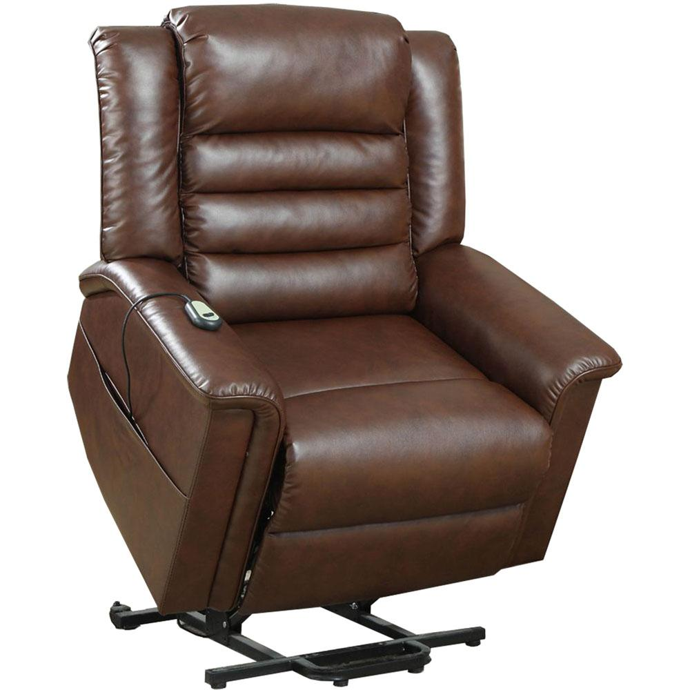 Cambridge Chester Brown Faux Leather 2-Way Lift Chair
