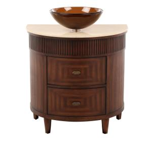 Home Decorators Collection Fuji Vanity In Old Walnut With Marble Top