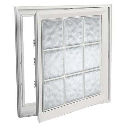 21 in. x 45 in. Right-Hand Acrylic Block Casement Vinyl Window with White Interior and Exterior