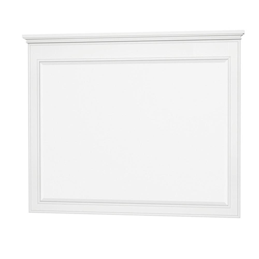 Berkeley 44 in. W x 36 in. H Framed Rectangular Bathroom Vanity Mirror in White