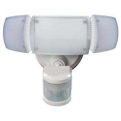 270° White Motion Activated Outdoor Integrated LED Triple Head Flood Light with Adjustable Color Temperature