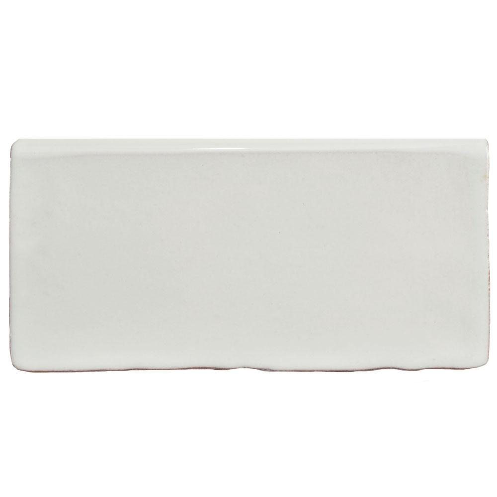 Merola Tile Antic Special Milk 3 in. x 6 in. Ceramic Bullnose Wall Trim Tile
