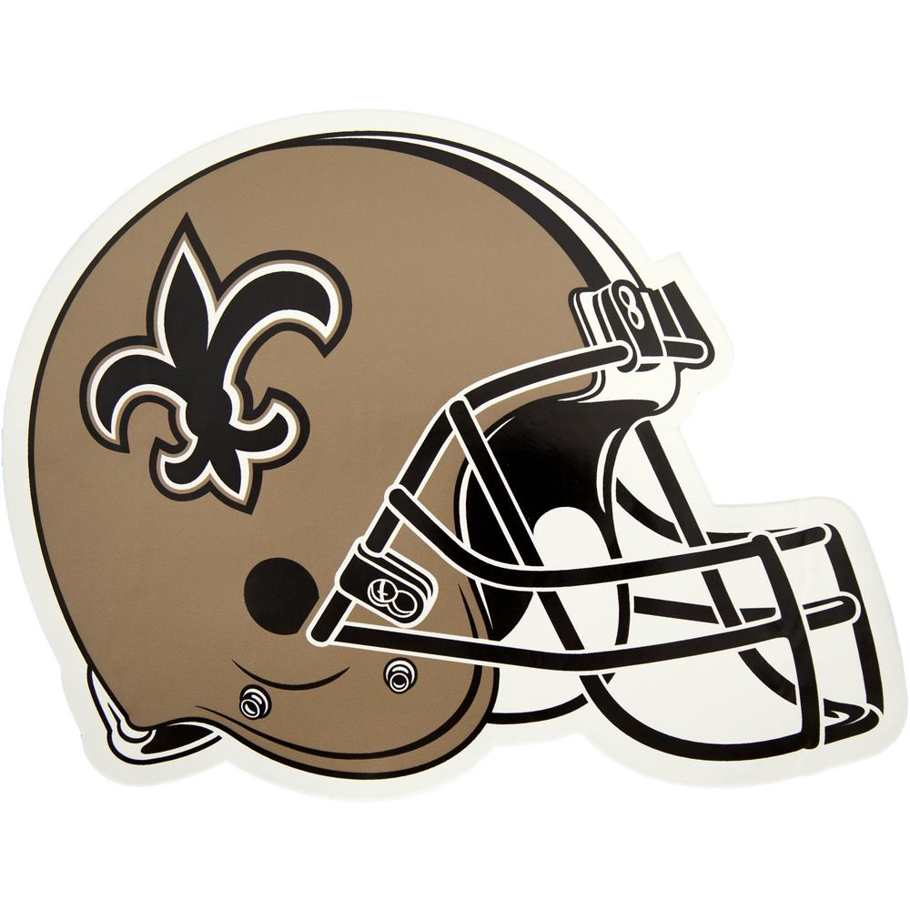1aaee59951b Applied Icon NFL New Orleans Saints Outdoor Helmet Graphic- Large-NFOH2103  - The Home Depot