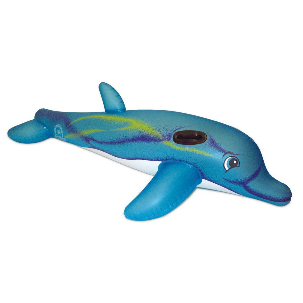 Poolmaster Dolphin Super Jumbo Rider 81760 The Home Depot