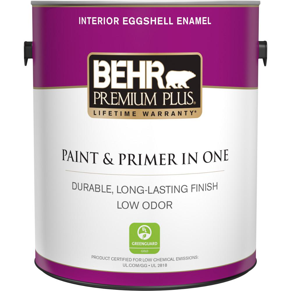 1 gal. Ultra Pure White Eggshell Enamel Low Odor Interior Paint