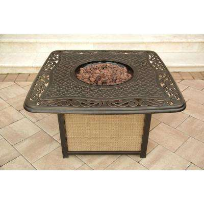 Traditions 41 in. Round Shaped Cast-Top Fire Pit