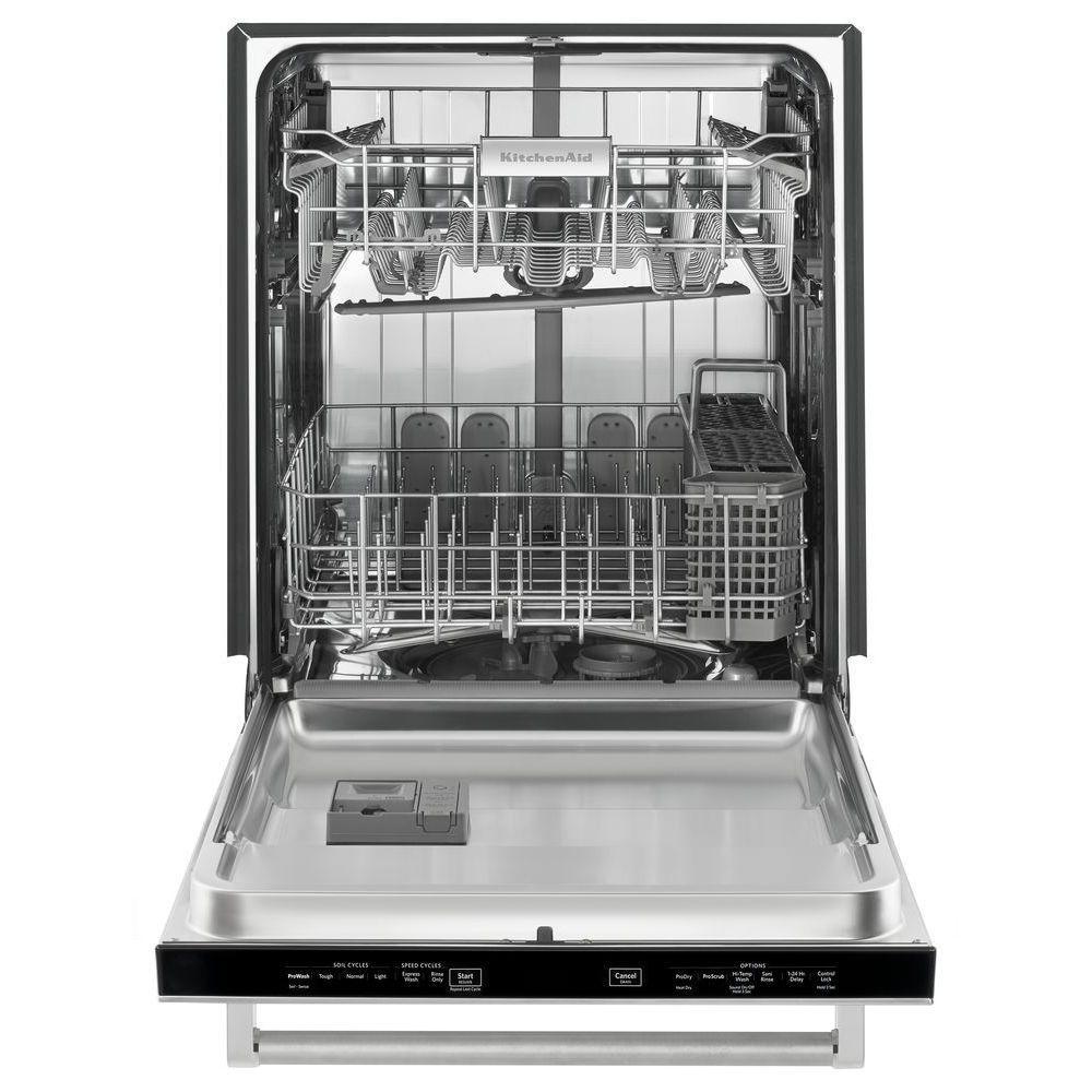 Kitchenaid Top Control Built In Tall Tub Dishwasher In Black