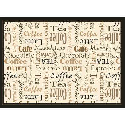 Taupe Coffee Club Placemat Set (4-Pack)