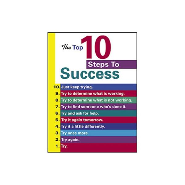 TREND ENTERPRISES INC. The Top 10 Steps to Success Poster