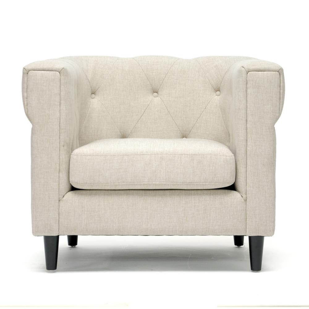 Home Decorators Collection Mayfair Pearl Linen Fabric Sofa: Home Decorators Collection Mayfair Linen Pearl Fabric Arm