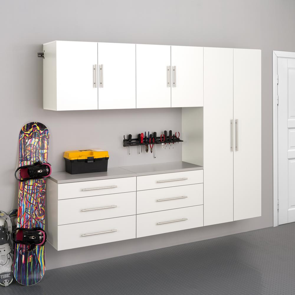 Prepac HangUps 72 in. H x 90 in. W x 16 in. D White Wall Mounted Storage  Cabinet Set H
