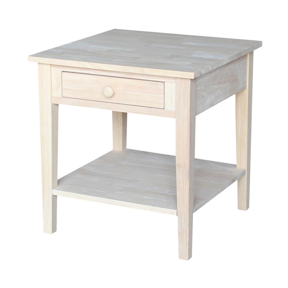 Spencer Unfinished End Table