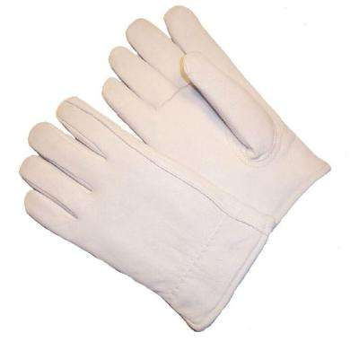 Premium Goatskin Leather Winter Gloves with Large Rayon Lining (1-Pair)