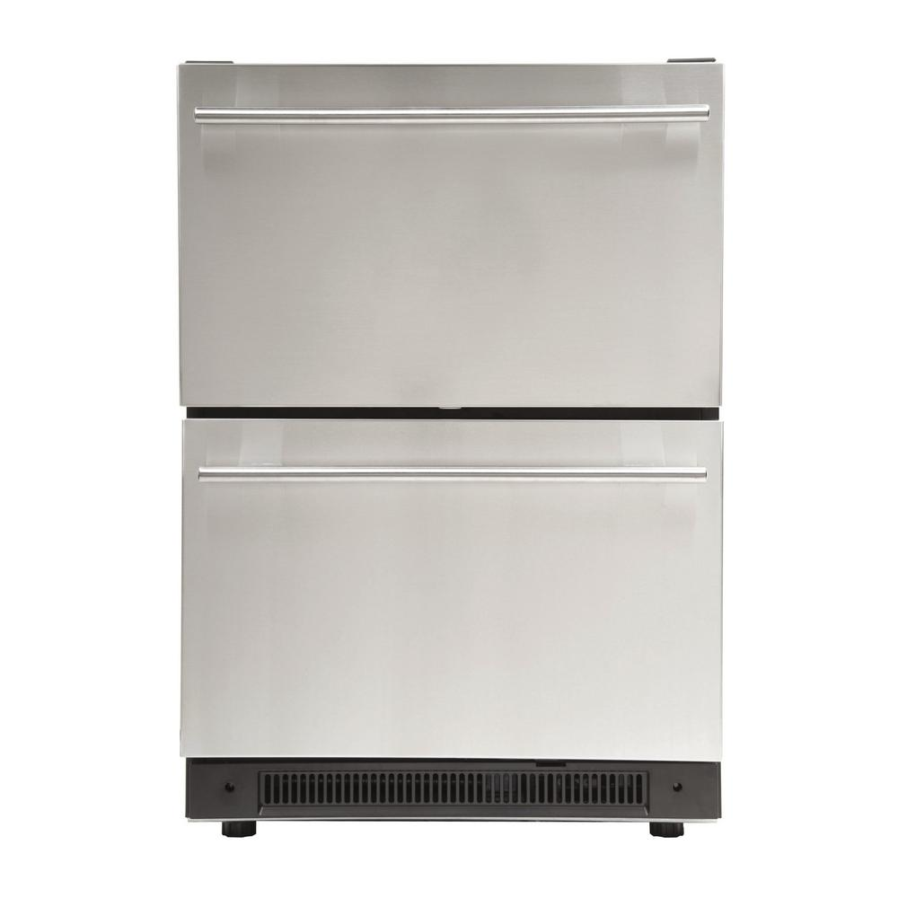 Haier 3 0 Cu Ft Undercounter Dual Drawer Refrigerator In
