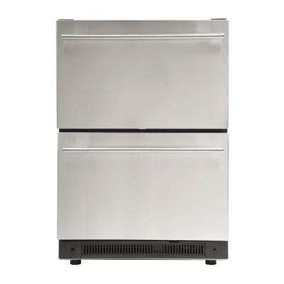 3.0 cu. ft. Undercounter Dual Drawer Refrigerator in Stainless Steel