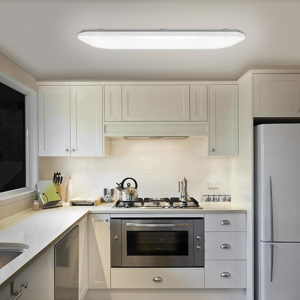 Hampton Bay 49 In X 18 In Traditional Rectangle Smooth Lens Led Flush Mount Ceiling Light Dimmable High Output 5500 Lumens 4000k 54645141 The Home Depot