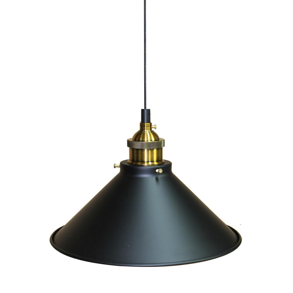 Broome 1-Light Dark Gray Pendant