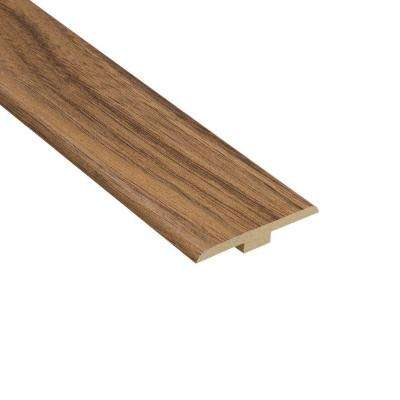 Harmony Walnut 1/4 in. Thick x 1-7/16 in. Wide x 94 in. Length Laminate T-Molding
