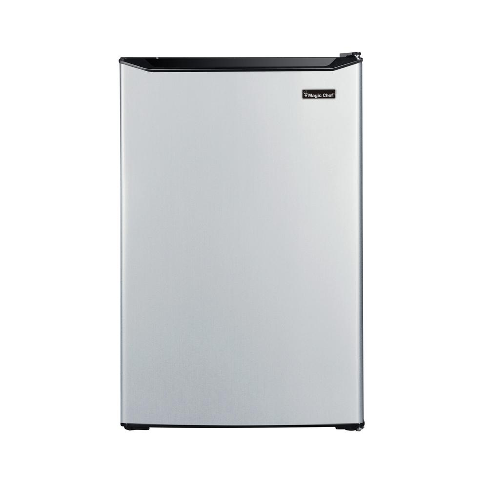 Mini Refrigerator With True Freezer In Stainless Look