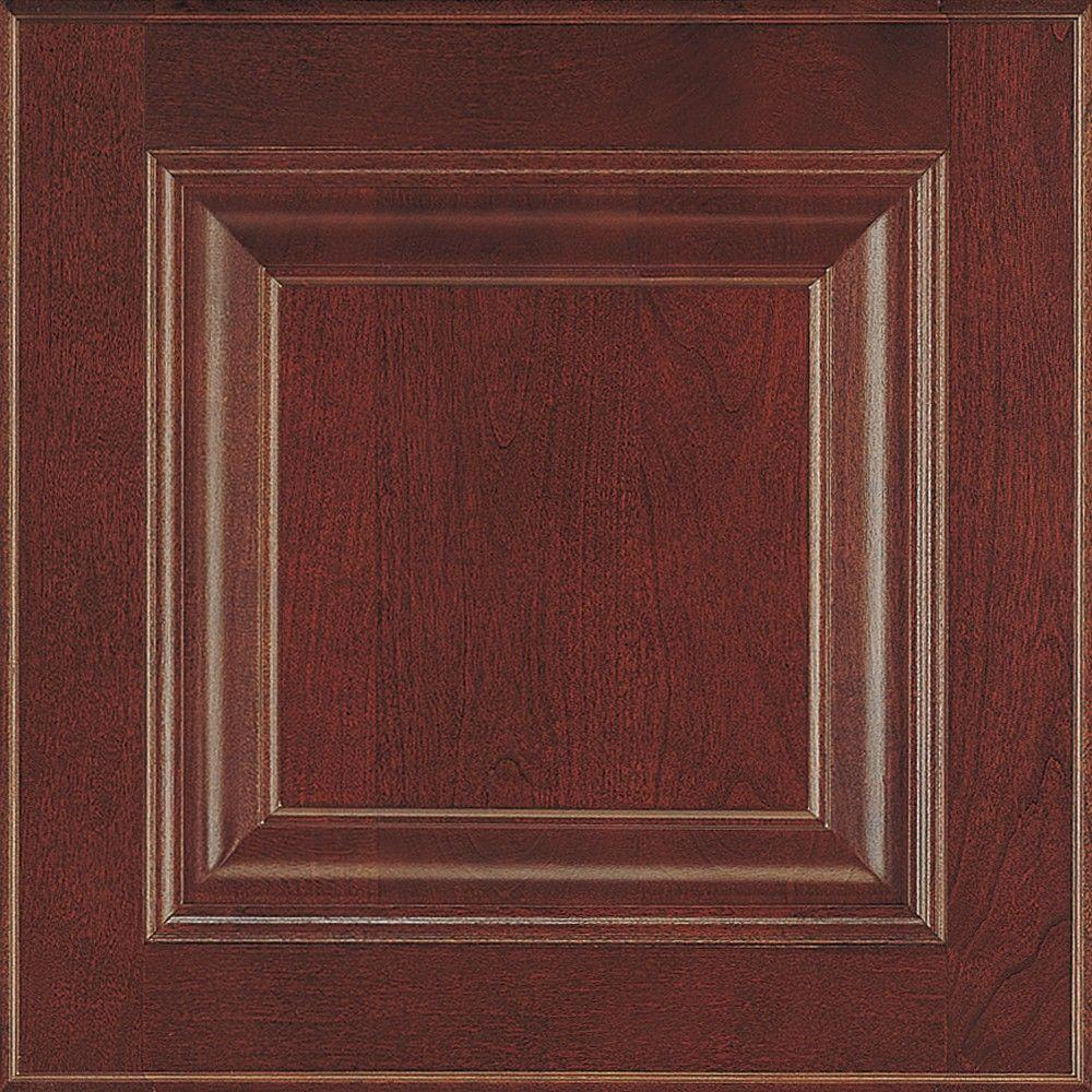 Thomasville 14.5x14.5 in. Cabinet Door Sample in Plaza Cinnamon