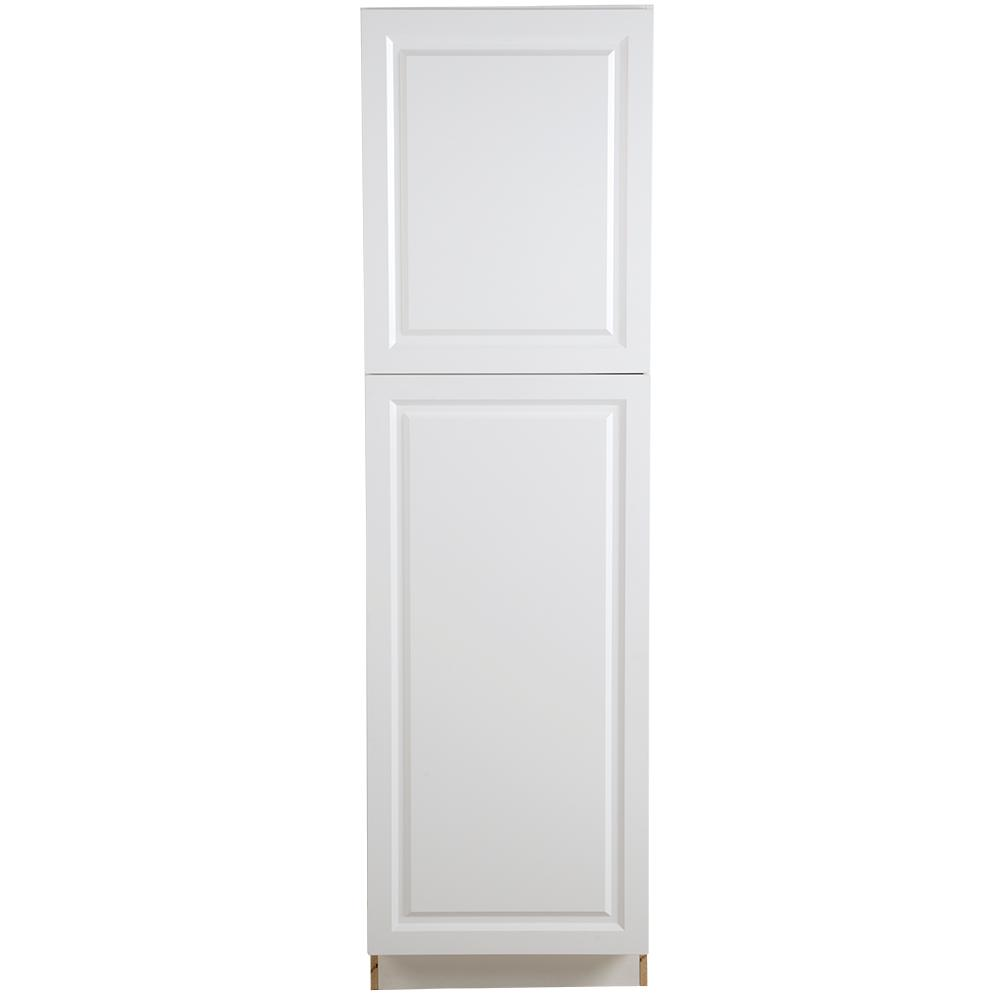 Hampton Bay Benton Embled 24x84x24 5 In Pantry Cabinet With Adjule Shelves White