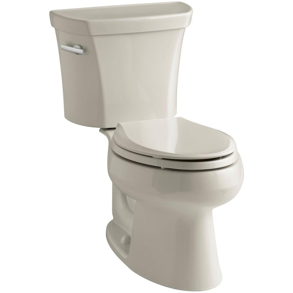 KOHLER Wellworth 2-piece 1.28 GPF Elongated Toilet in Sandbar