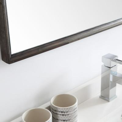 Formosa 48 in. Modern Double Wall Hung Vanity in Warm Gray with Quartz Stone Vanity Top in White w/ White Basins, Mirror
