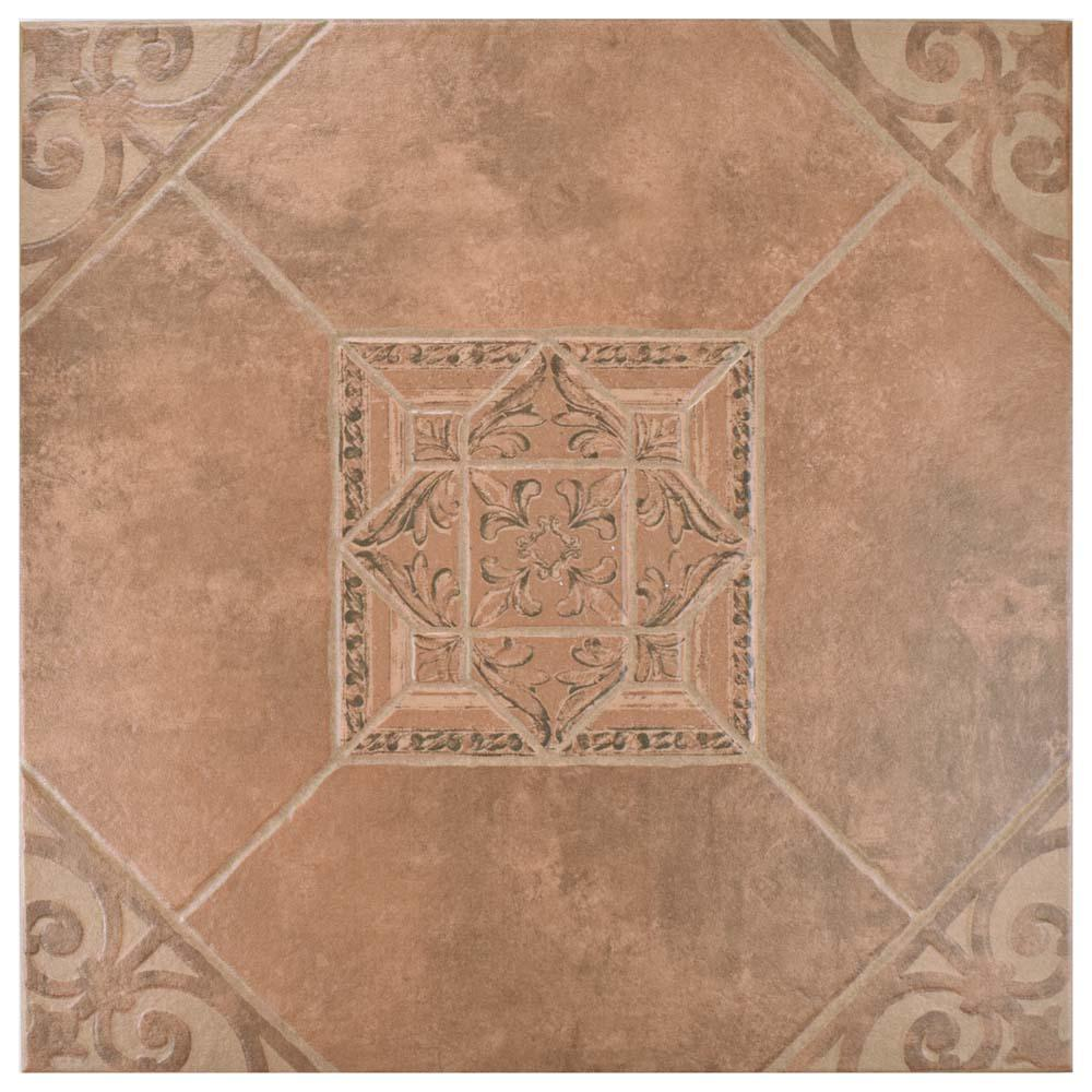 Cotto tile flooring the home depot manises teja 17 58 in x 17 58 in dailygadgetfo Image collections
