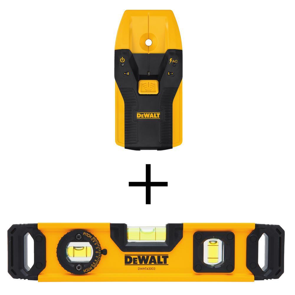 Dewalt 3/4 in. Stud Finder + Dewalt DWHT43003 9 in. Torpedo Level