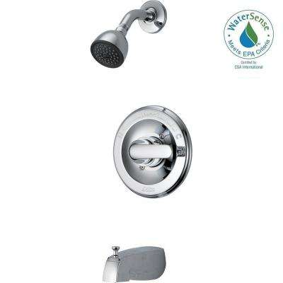 Classic Single-Handle 1-Spray Tub and Shower Faucet in Chrome