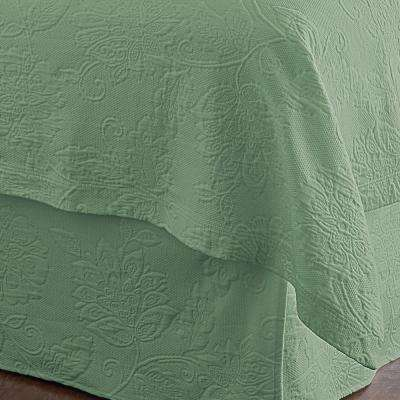Putnam Matelasse Palm Queen Bed Skirt